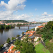 Prague, view over Vltava river — Stok fotoğraf