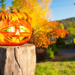 Jack o'Lantern outdoors — Stock Photo