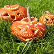 Carved Halloween pumpkins — Stock Photo #33385927