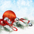 Red Christmas decorations — Stock Photo #33386631