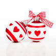 Two Christmas baubles — Stock Photo