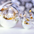 Shiny Xmas baubles — Stock Photo
