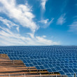 Solar electricity plant  — Stock Photo