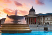 Trafalgar Square at sunset — Stock Photo