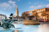 Fountain on Trafalgar Square — Stock Photo