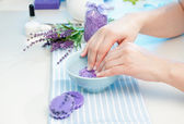 Preparing hands for manicure — Stock Photo