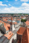 Old Town Hall and rooftops of Munich — Zdjęcie stockowe