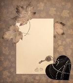 Tinted seasonal paper frame — Stock Photo