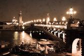 Alexandre III Bridge in Paris, sepia — Stock Photo