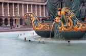 Fountain in the Place de la Concorde in Paris — Stock Photo