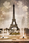 Seasonal picture of Eiffel tower in Paris — Stock Photo