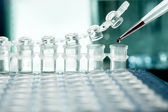 Plastic tubes for DNA amplification — Stock Photo
