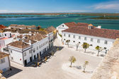 Town square on a seashore, Algarve, Portugal — Stock Photo