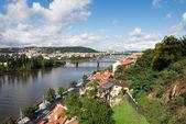 Prague, view over Vltava river — Foto de Stock
