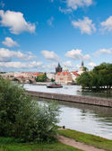 Vltava river in Prague — Stockfoto