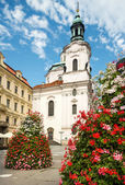 Prague, St. Nicolas Church — Stock Photo