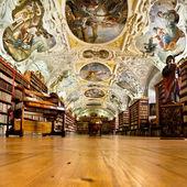 Strahov Monastery library interior, space — Stock Photo
