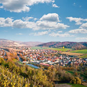 View over Saale river valley near Jena, Germany — Stock fotografie