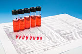 Biological or chemical compounds to test — Foto Stock