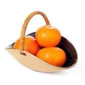 Satsumas in a bowl — Stock Photo