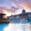 Stock Photo: Trafalgar Square in evening