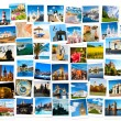 Travel in Europe collage — Foto Stock