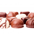Stock Photo: Chocolate truffles on white background