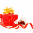 Stock Photo: Valentine gift box and chocolate