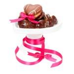 Chocolate pralines and cookies — Stock Photo