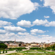 Schoenbrunn Park, view over Vienna — Stock Photo