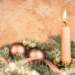 Christmas decorations, retro-style image — Stock Photo