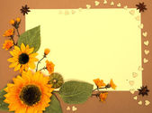 Frame with sunflowers — Stock Photo