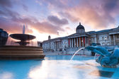 Trafalgar Square in the evening — Stock Photo