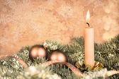 Christmas decorations, retro-style image — Stock Photo