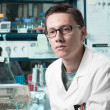 Young male researcher in the lab — Stock Photo