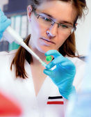 Young scientist at work — Stock Photo