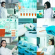 Molecular biology, collage — Stock Photo