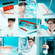 Scientists at work, collage — Stock Photo #33434901