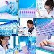 Scientists at work, collage — Stock Photo #33461671