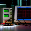 Digital oscilloscope — Foto Stock