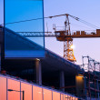 Stock Photo: Office block construction site