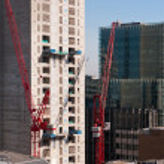 Skyscraper construction in Central London — Stock Photo