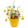 Stock Photo: Easter flower arrangement