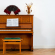Piano, bandoneon and chello — Stock Photo