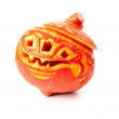 Jack O'lantern on white background — Stock Photo