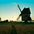 Windmill sunset — Stock Photo