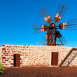Fuerteventura, traditional windmill — Stock Photo