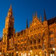 Munich Town Hall at night — Stock Photo