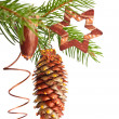 Xmas tree decorations — Stock Photo