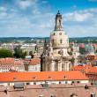 Stock Photo: Frauenkirche and roofs of old Dresden
